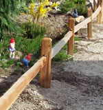 Push-in 1-Rail Fence with 8' Rails