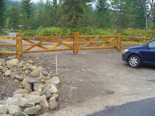 3 Rail Cedar Gate - 10 inch