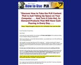 How To Profit From PLR