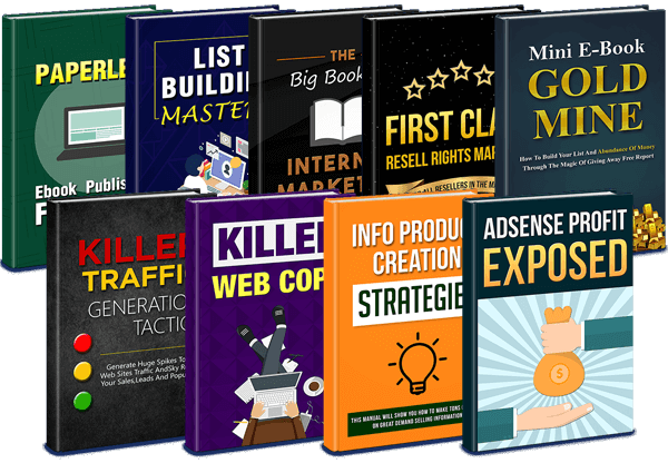 Collection Of 9 Resellable Ebooks