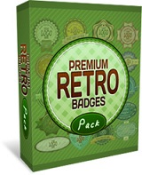Premium Retro Badges Pack